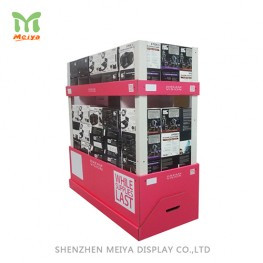 Customized full color printing paper display stand,Corrugated paper pallet display for supermarketopping mall
