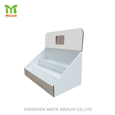 3- Tier Customized White Corrugated Counter Display