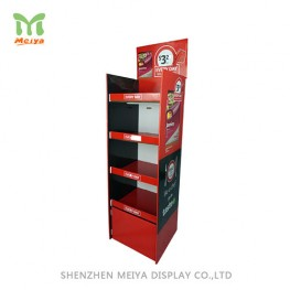 Promotion cardboard display stands 4 shelves