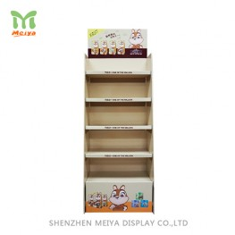 Promotion Corrugated Cardboard Display Stand, Floor Display For Snacks