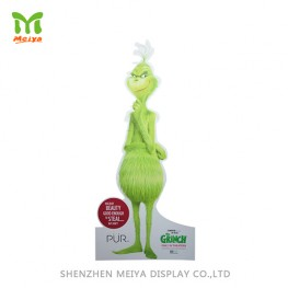 Grinch modeling cardboard advertising standee