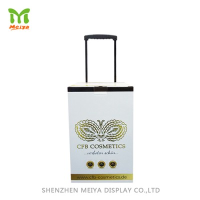 Promotional Cardboard Trolley Exhibition Box, Pop Trolley Carton, Cheap Trolley Bag