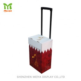 supermarket corrugated Cardboard Box Trolley with wheels