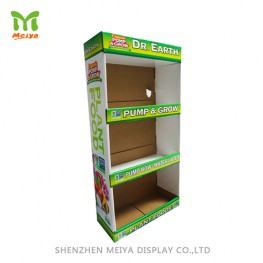 Supermarket shelves promotion cardboard floor display stand corrugated display rack