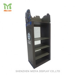 Custom Corrugated Display Pop Cardboard Counter Displays Stand with Shelves