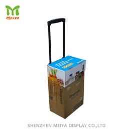 Cardboard trolley bag corrugated pop display rack
