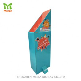 Hot selling snacks Custom POP Cardboard Retail Display Dump Bin For Supermarket