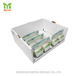 Custom Design Stackable Cardboard Display Tray for Farm Product