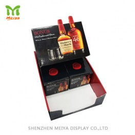 4 pack wine corrugated counter display box cardboard tray