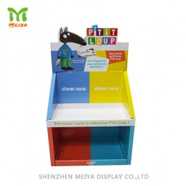 Pop Cardboard Counter Display with 2 Tiers Tray