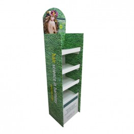 Fast Assemble Cardboard Floor Display Stand for Haircare Product